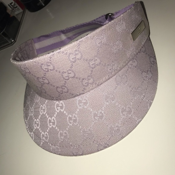 312b5d9111e Gucci Accessories - Gucci Purple Visor